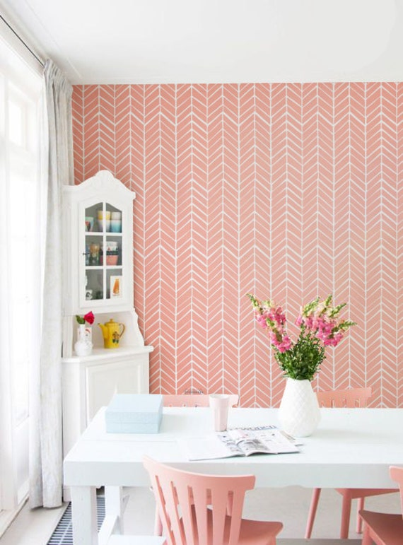 Removable peel and stick self adhesive vinyl wallpaper by for Temporary vinyl wallpaper