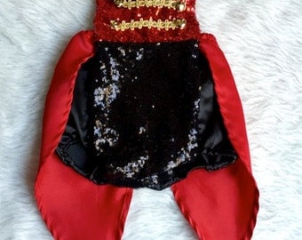 Ringmaster Circus-Inspired Romper for Girls