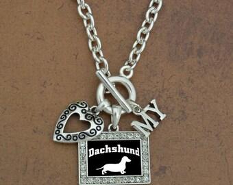 Heart My Dachshund Necklace