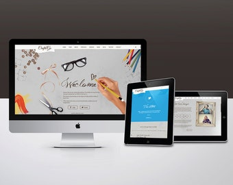 Website Design - Suits any Business and Boutique, Complimentary Logo and Stationery Design, 5 Page, Graphic Design, WordPress