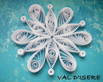 Single snowflake from set NISEKO - Paper quilled ornament - Christmas decoration - Handmade gift