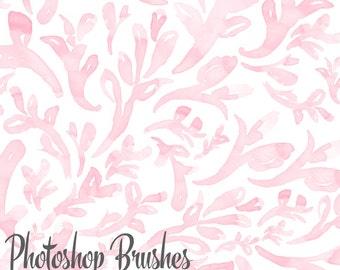 Floral Watercolor Photoshop Brushes, Spring Blog Design Resource