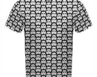 Star Wars Shirt, Stormtroopers Shirt, Men's All Over Print Black and White Stormtroopers Tshirt