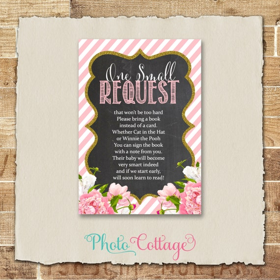request card baby shower book instead of card baby shower request