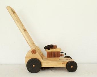 Wooden Toy Lawnmower / Walker