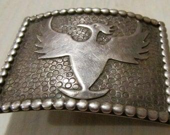 Sterling Silver Phoenix Bird Belt Buckle