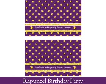 Rapunzel Goodie Bag Toppers, Rapunzel Birthday Printable, Goodie Bag Topper, Loot Bag Label, Princess Rapunzel Party Decorations