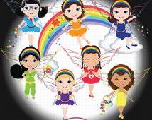 Rainbow Fairy Clipart, Rainbow ClipArt, Angel Clipart, Fairy Clipart, Fantasy Clipart