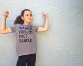 Warrior Princess Poet Dancer Junior Tee, Jesus Apparel, Cute Summer Kid's Tee