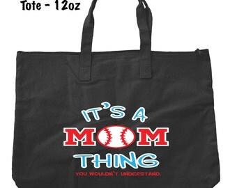 Baseball Mom Tote Bag - Baseball Tote Bag - Bags and Totes - Baseball Mom Bag - Baseball Present - Gifts For Mom