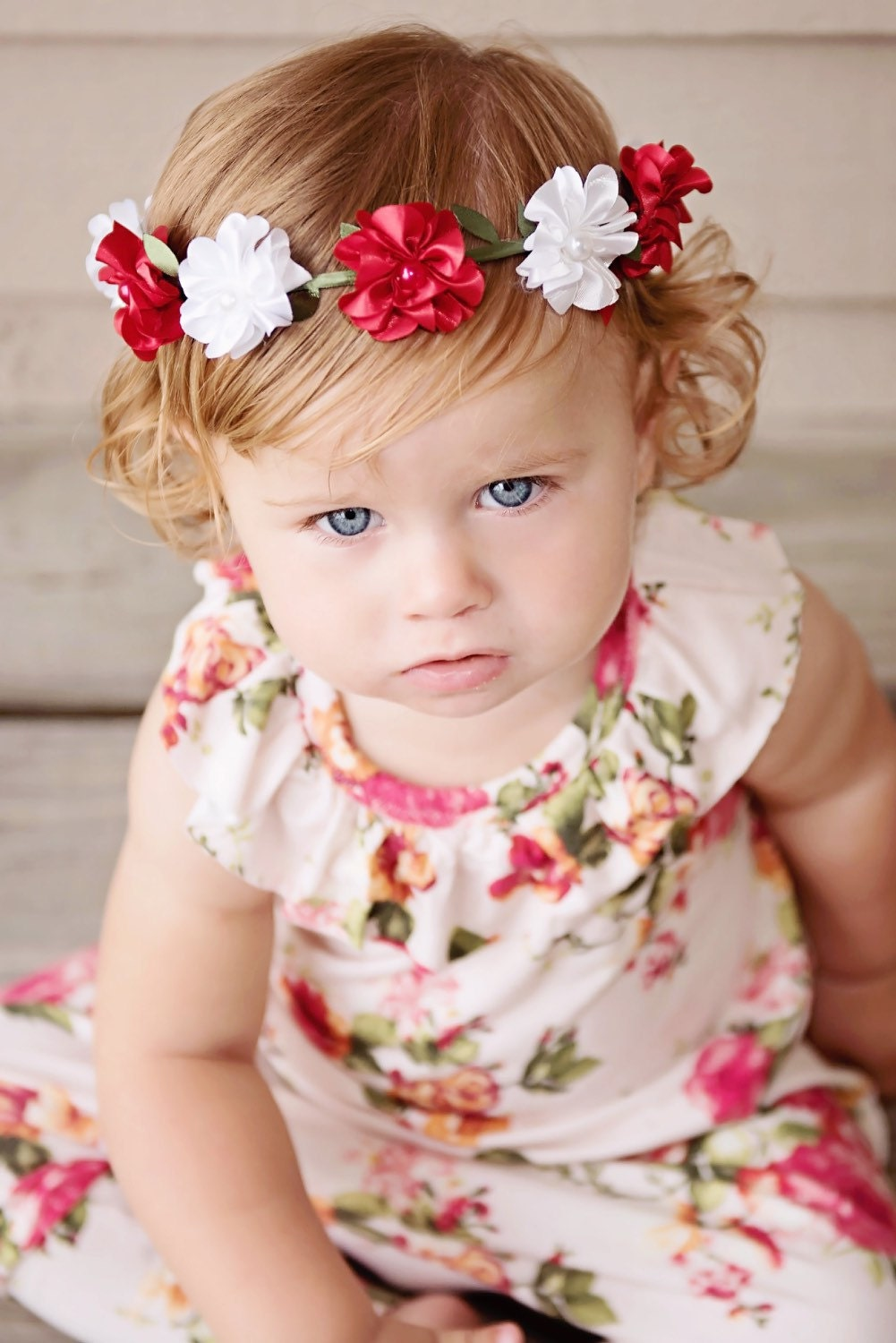 Baby flower crown toddler flower crown red and white flower crown baby flower crown toddler flower crown red and white flower crown girls flower izmirmasajfo