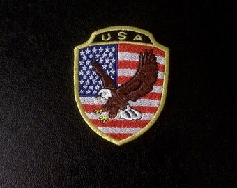 American Flag Patch Eagle, embroidery