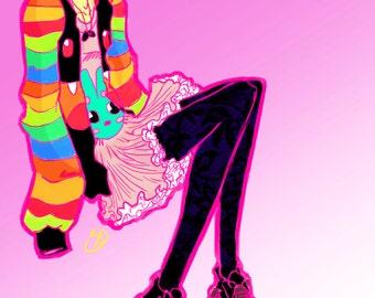 Candy Lolita Art Print