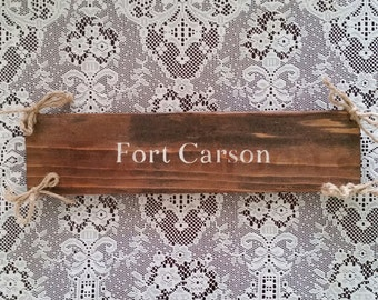 Duty Station Add On, Military Family Signs, Wooden Family Name Sign, Fort Signs, Military Base Signs, Custom Military Family Base Signs