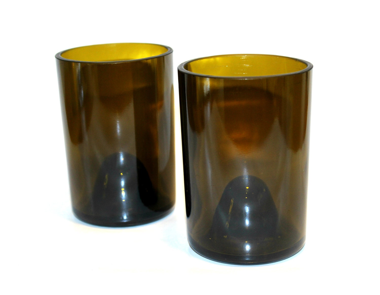 recycled wine bottle drinking glasses tumblers set of 2