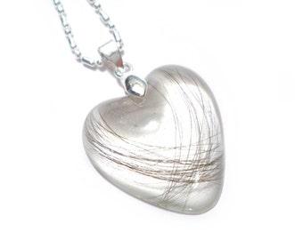 HEART Hair Lock Resin Keepsake Pendant Hair Locket - Baby Hair - Pet Fur or Hair - Locket - Mothers - Memorial Necklace - ValenwoodVixen