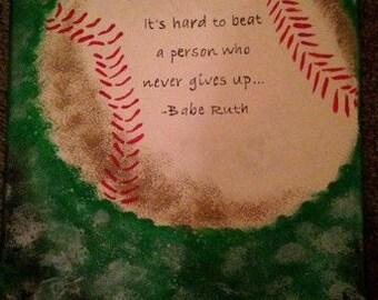 Babe Ruth 11x14 Canvas