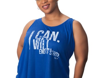 Plus Size Motivational Tank Top Curvalicious (sizes 2X-4X) Dynamic-I Can