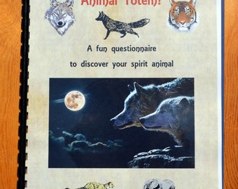 Spirit Animal, Totem Quiz, Animal Booklet, Animal Lover, Birthday Gift