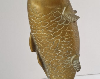 Asian Style Brass Fish/Koi Sculpture or Figure