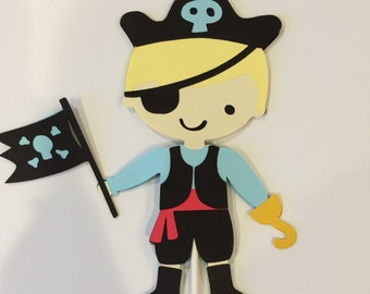 Single Double Sided Pirate Cake Topper