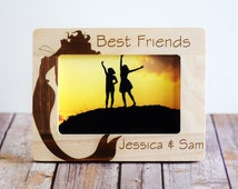 Best Friends Frame- Personalized Photo Frame~Birthday~ Great Gift! Personalized Gift- Wood Frame 4x6 photo- Mermaid Frame