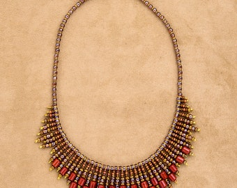 CLASSIC Beaded necklace in CLEOPATRA style: