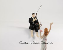 hooked on love wedding cake topper popular items for fishing cake topper on etsy 15312