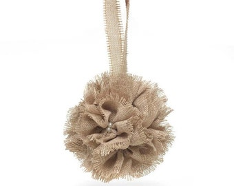 Burlap Kissing Ball/Pomander (5 Inches)