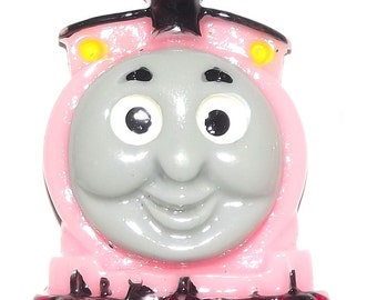 2 Thomas Train ROSIE Pink Resin Flatback Cabochons Embellishments for Scrapbooking & Hair Bows