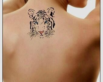 Temporary Tattoo Tiger Fake Tattoo Thin Durable