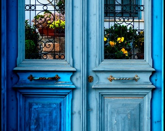 Blue Doors - Fine Art Print Showcasing the Beauty of the Mediterranean (Custom Size)