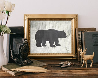 75% OFF SALE - Bear Print - 8x10 Printable Art, Rustic Decor, Grizzly Bear Print, Wall Art, Rustic Home Decor, Hunting Decor