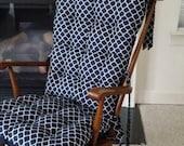 Nursery Rocking Chair Cushions, Glider Replacement Pads, Boho Rocker ...