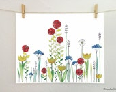 FLOWERS of the Meadow - illustration giclee 24x30cm