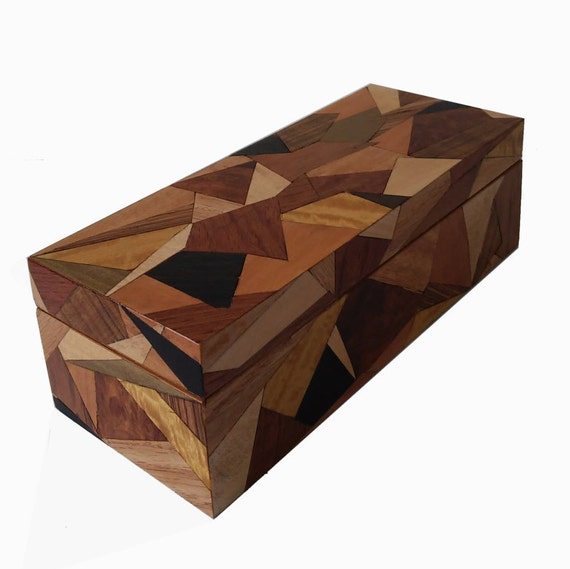Handmade - Wooden Box - Jewelry Box - Inlay - Marquetry