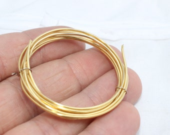 18 Gauge 3,3 Feet Gold Plated 24K Wire, Dead soft wire, Wrapping Wire, WR8