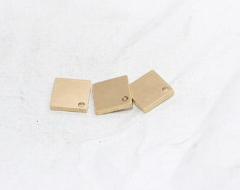 10 Pcs Square Stamping Blank, Metal Blank , Solid Brass Blank , Raw Brass Square, Stamping Blanks, PA