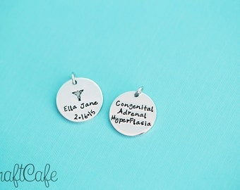 """Add a 7/8"""" Tag - Hand Stamped Jewelry"""