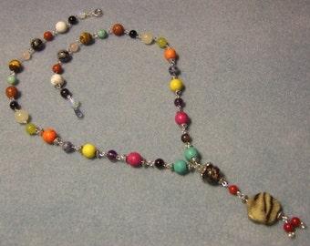 Chakra necklace multicolor - craft