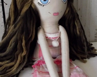 Handmade Cloth Doll Claire