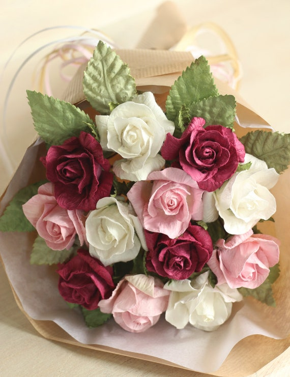 First wedding anniversary gift paper flower