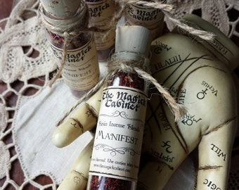 Manifest Incense, Witchcraft, Wicca, Witch, Incense, Handmade Incense, Incense, Resin Incense, Aromatherapy, Natural Incense, Incense Blend