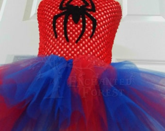 Spider Girl handmade tutu dress, fancy dress, party, marvel, spiderman, comic, dress up