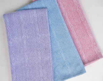 Handwoven Twill Plaid Kitchen Towel