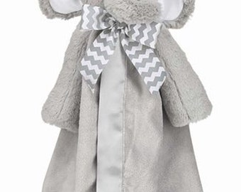 Personalized Baby Security Blanket Lil' Spout Elephant Snuggler Lovie Baby Boy Gift Baby Girl Gift Plush Stuffed Animal with Blanket