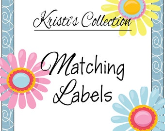 Matching Return Address Labels Stickers - Kristi's Collection