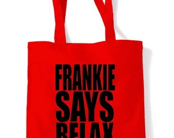 Frankie Says Relax Cotton Tote Shopping Bag
