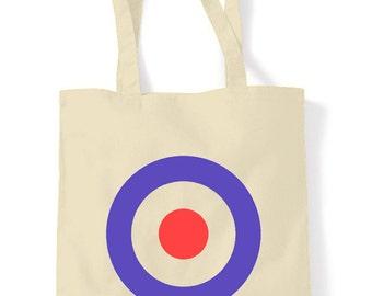 Mod Target Cotton Tote Shopping Bag