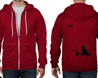 Banksy Cat and Mouse Full Zip Hoodie